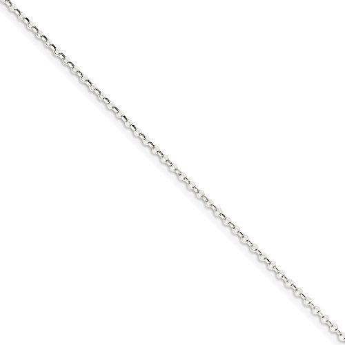 16' Diamond Cut Cable Chain (Roy Rose Jewelry Sterling Silver 2mm 8 Side Diamond Cut Cable Chain 16'' length)