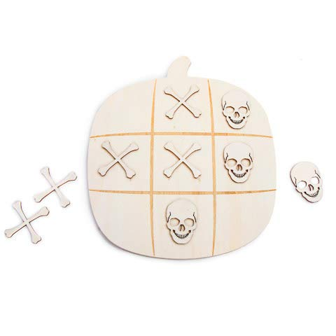 Darice Pumpkin Tic Tac Toe Board Kit: 8.85 X 10.13