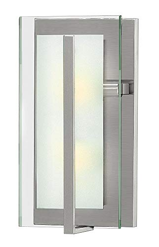 Hinkley 3992BN Contemporary Modern Two Light Wall Sconce from Latitude collection in Pwt, Nckl, B/S, Slvr.finish, (Latitude Hinkley)