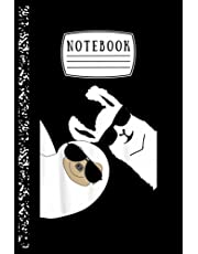 Notebook: Funny Llama Alpaca Sloth With Sunglasses Notebook Ruled Lined Notebook Pages For Writing