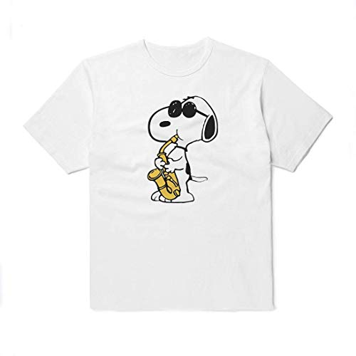 WolfCases Jazzman Snoopy T-Shirt Unisex Cartoon Outfit Black White Colored Clothing Cotton Shirt Peanuts Comics Funny For Women Men Kids Big Print AW3006 -