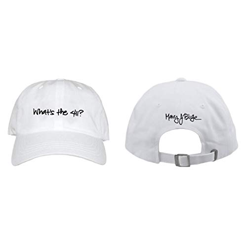 Mary J. Blige Womens What's The 411 Dad Hat White