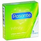 Pasante Infinity Ausdauer Kondome länger Sex lieben (3er Packung, Pasante Infinity) Condome Verzögerungskondome, für mehr Ausdauer, Länger Sex lieben Verzögerung