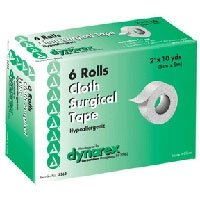 Dynarex Cloth Surgical Tape - 2 Inches X 10 Yds, (Box of 6 RL) by DYANAREX
