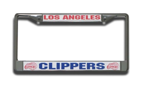Rico Industries NBA Los Angeles Clippers Standard Chrome License Plate Frame