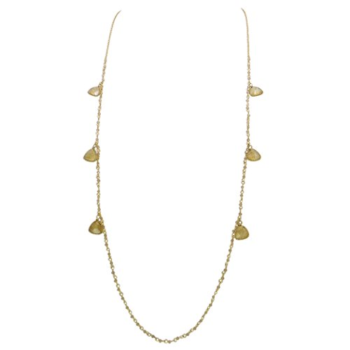 Rosemarie Collections Women's Glass Bead and Natural Stone Long Statement Necklace - Glasses Urban Outfitters