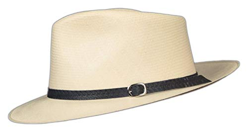 """Embossed Patterned Leather Panama Hat Band (Black Weave .5"""")"""