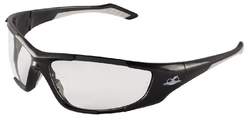 - Bullhead Safety Eyewear BH1291 Javelin, Shiny Pearl Gray Frame, Clear Lens, Crystal TPR Nose Piece and White Temple (1 Pair)