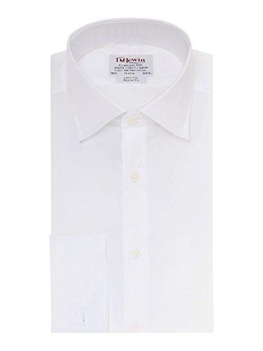 T.M.Lewin Herren Regular Fit Popeline-Hemd, Weiß