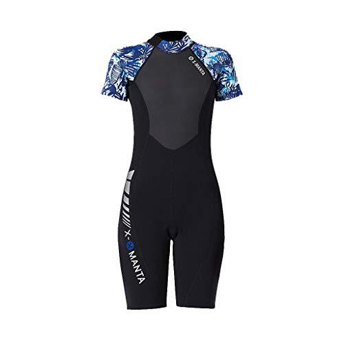 RAINED-Women Dive Skin Surf Swimsuit One Piece Swimwear Lycra Long Sleeve Shorty Wetsuit Rash Guard Surfing Scuba Diving
