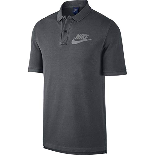 NIKE Mens M NSW Polo PQ WASH HBR 886491-010_2XL - Black/Anthracite/Cool Grey