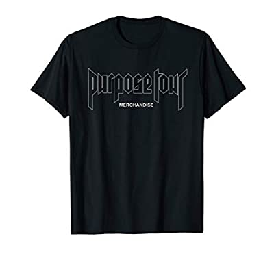 Official Justin Bieber Purpose Tour Exclusive Cross T-Shirt