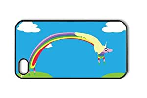 Adventure Time Lady Rainicorn Iphone 4/4S Black Sides Hard Shell PC Case by eeMuse by ruishername