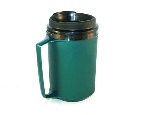 12 oz Foam Insulated Green ThermoServ Travel Coffee Mug