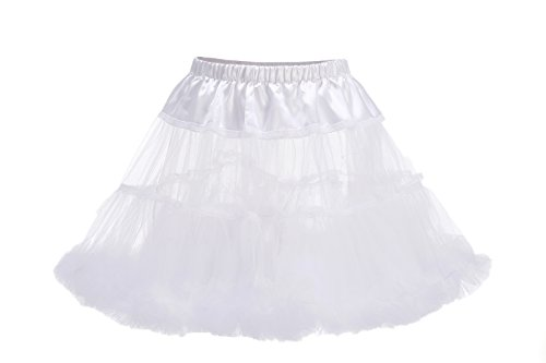 [BlingblingDresses 2016 Women's Tutu Dress Halloween Costumes Short Skirt White] (Halloween Costumes 2016 Plus Size)