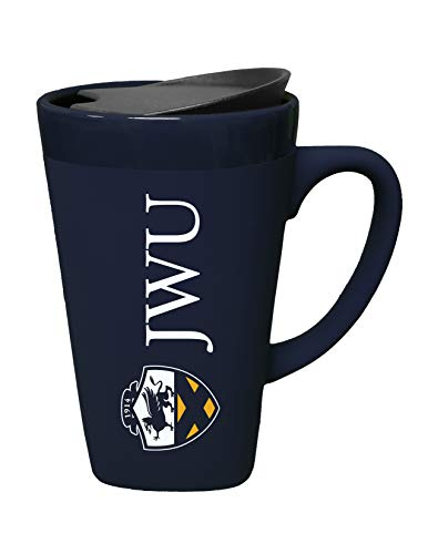 (The Fanatic Group Johnson & Wales Ceramic Mug with Swivel Lid, Design-1 - Blue)