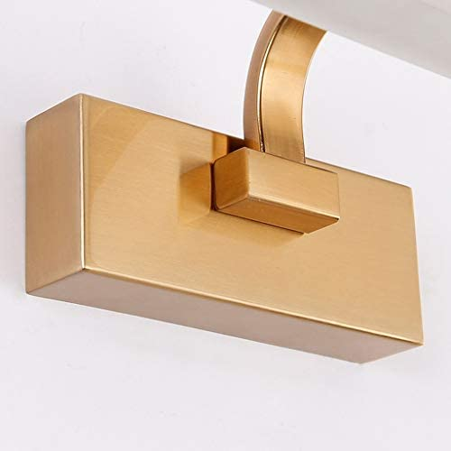 -badezimmerlampe Badezimmer LED-Spiegel-Frontleuchte Moderne wasserdichter Nebel Bad Licht Toilette Goldspiegelschrank Spiegel-Licht Badleuchte (Color : Neutral light)