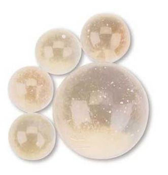 Ice Clear Boulders Bag of 45 BOULDER SIZE (1 3/8'') GLASS MARBLES