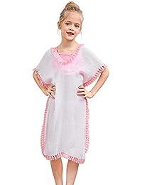 e7bca22f0e659 Cover Up for Girls Swimsuit Cover Ups Beach Coverup with Pom Pom