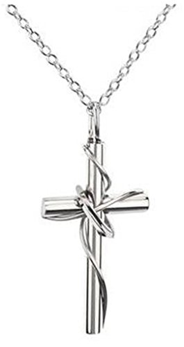 JSDY Stainless Steel Silver Twine Ring Cross