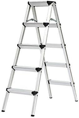 TLTLTD Escalera 5 Peldaños, Escalera De Aluminio, Escalera Plegable De Uso Doméstico, Pedal Antideslizante Ensanchado, Peso Del Rodamiento 150 Kg (color : Negro): Amazon.es: Bricolaje y herramientas