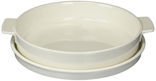 Clever Cooking  Round Baking Dish with Lid by Villeroy & Boch - Premium Porcelain Baking Dish - Made in Germany - Dishwasher and Microwave Safe - 11 ()