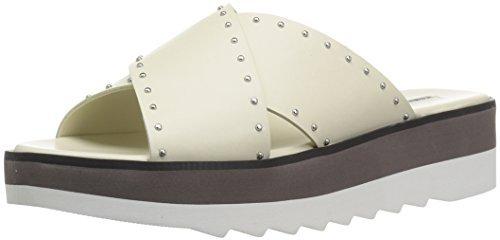 CHARLES DAVID Women's Buxom Slide Sandal White 8 M US