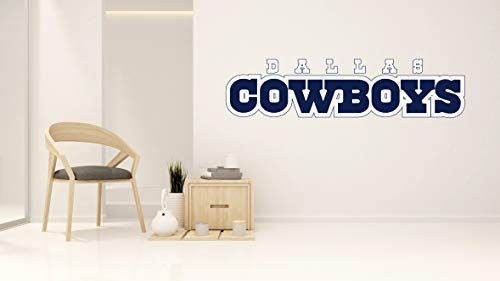 American Football Team Letters Wall Decal - Dallas Cowboys Wall Decal - Wall Decal for Home Bedroom Decoration (Wide 40