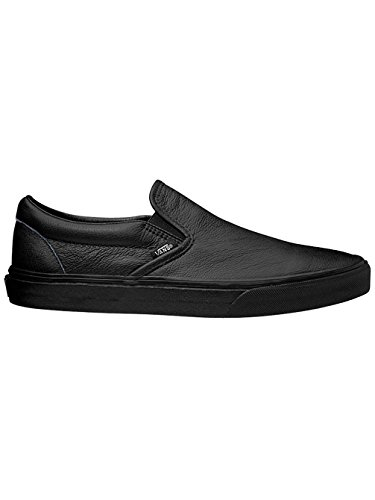 33f53a879e Vans - Unisex Classic Slip-On Shoes in (Premium Leather) Black Mono ...