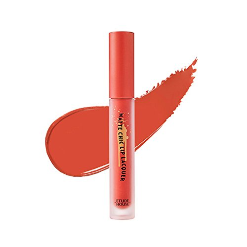 Etude House Matte Chic Lip Lacquer (OR202 Too Much Orange)