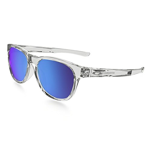 Oakley Men's Stringer Non-Polarized Iridium Rectangular Sunglasses, POLISHED CLEAR, 55 mm (Sunglasses Oakley Wayfarer)