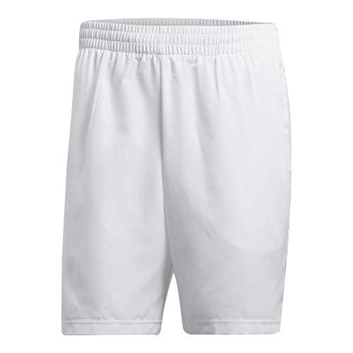 adidas Mens Tennis Club Bermuda, White, 2X-Large