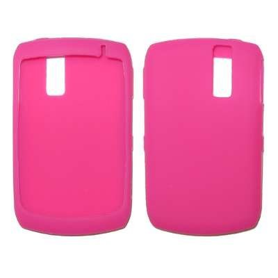 Premium Durable Hot Pink Silicone Soft Rubber Skin Cover Case for RIM Blackberry Curve 8330, 8300, 8310, 8320 - Non-Retail Packaging