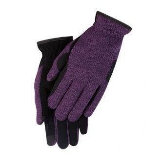 Kerrits Stable Knit Glove Purple Rein Size: Large