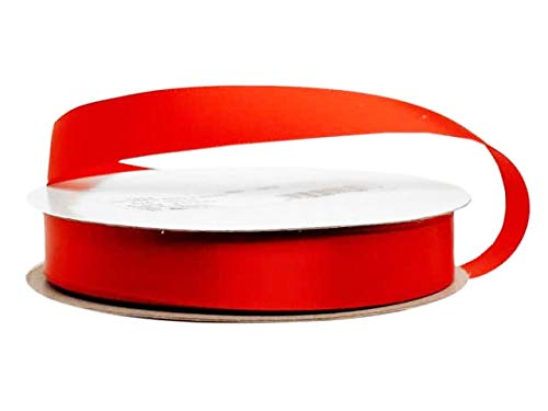 5/8 Inch Red Single Face Satin Ribbon (100 Yards)