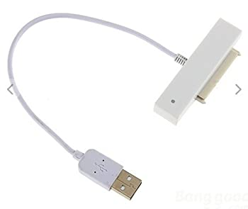 "AYA USB 2.0 to SATA Serial ATA 15+7 Pin 22P Adapter Cable 2.5"" HDD Hard Drive"
