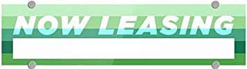 Modern Gradient Premium Brushed Aluminum Sign CGSignLab Now Leasing 24x6 5-Pack
