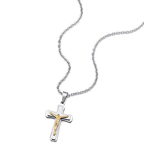 5e3c75abb6d4 Barato Tres Capas Pequeño Jesucristo Crucifijo Cruz