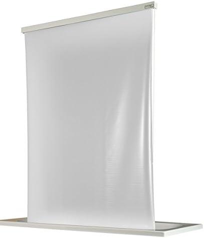 ECO-DuR 4024879000660 - Cortina de Ducha Enrollable (134 cm), diseño Liso, Color Blanco