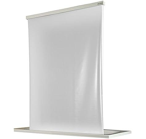 ECO-DuR 4024879000660 - Cortina de Ducha Enrollable (134 cm), diseño Liso, Color Blanco: Amazon.es: Hogar