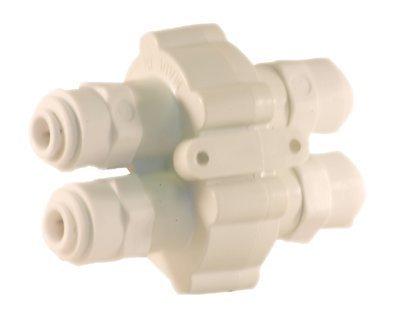 Hydronamic (ASV-100-JG) Auto Shut Off Valve w/ 1/4' Quick Connect Fittings White