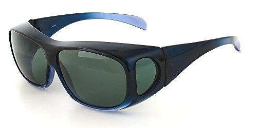 Calabria Wear-Over Rx Polarized Sunglasses 4599 in Blue & - Sunglass Cocoon
