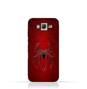Samsung Galaxy Grand Prime TPU Silicone Protective Case with Spider Man Logo Design