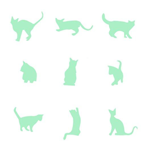 Yuntown DIY Fluorescent Wall Stickers Vinyl Glow Cats Decals Murals for Kids Room Bedroom Wall Nursery Decor -  Zhuhai YAN Electronics Co.,Ltd