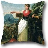 artistdecor Pillow Cases of Oil Painting Gálvez, Juan - Agustina De Aragón 16 X 16 Inches / 40 by 40 cm,Best Fit for Floor,Living Room,Teens,Couples,Play Room,Pub Twin Sides