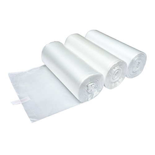 XYBAGS 1.2 Gallon Clear Plastic Trash Bags, 4.5 liters Small Garbage Bags for Office, Bathroom, 150 Counts