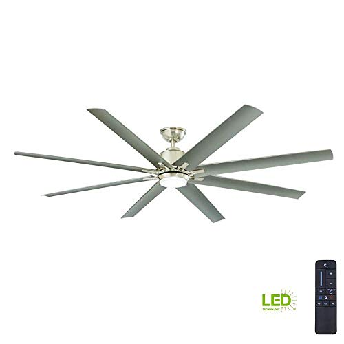 Home Decorators Collection Kensgrove 72 in. LED Indoor/Outdoor Brushed Nickel Ceiling Fan