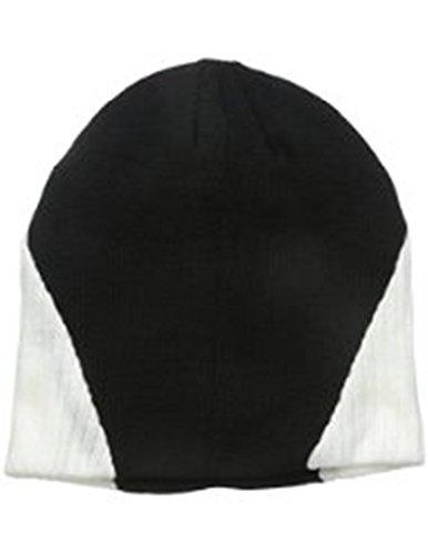 SPYDER Winter Ski Snowboard Rib Knit Skull Cap Beanie (Black/White) Sport Hat