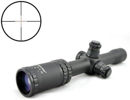 Visionking Rifle Scope 2.5-10×32 Riflescopes for Illuminated Wide Angle Zielfernrohr Black