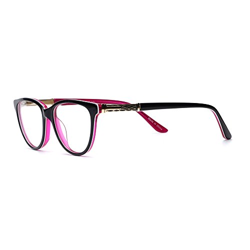 Eyeglasses Frame Rose - OCCI CHIARI Fashion Avello Acetate Color Rose Eyeglasses Frame With Clear Lenses
